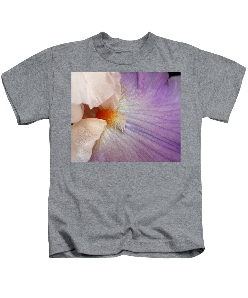 Iris Kids T-Shirt featuring the photograph Bearded Iris by Marna Edwards Flavell