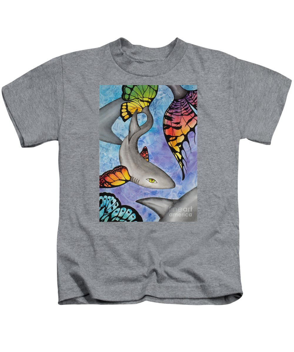 Surreal Kids T-Shirt featuring the painting Beauty In The Beasts by Lucy Arnold