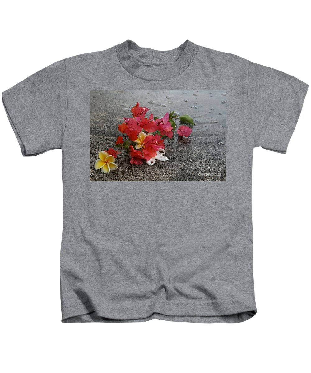 Aloha Kids T-Shirt featuring the photograph Beauty Is Eternally Free by Sharon Mau