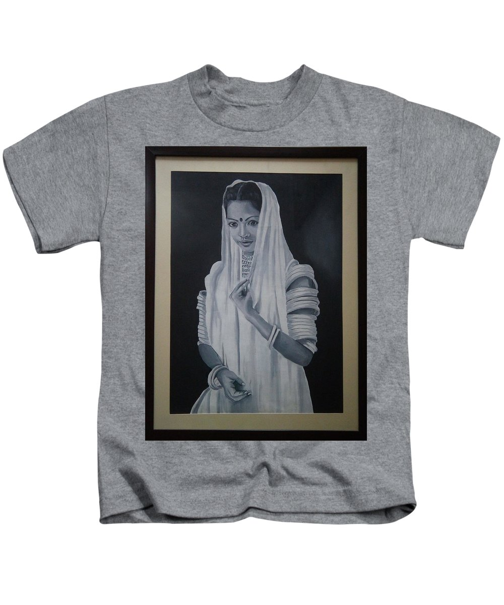 Beauty Of Rajasthan Kids T-Shirt featuring the painting Beauty Of Rajasthan by Sneha Choudhary