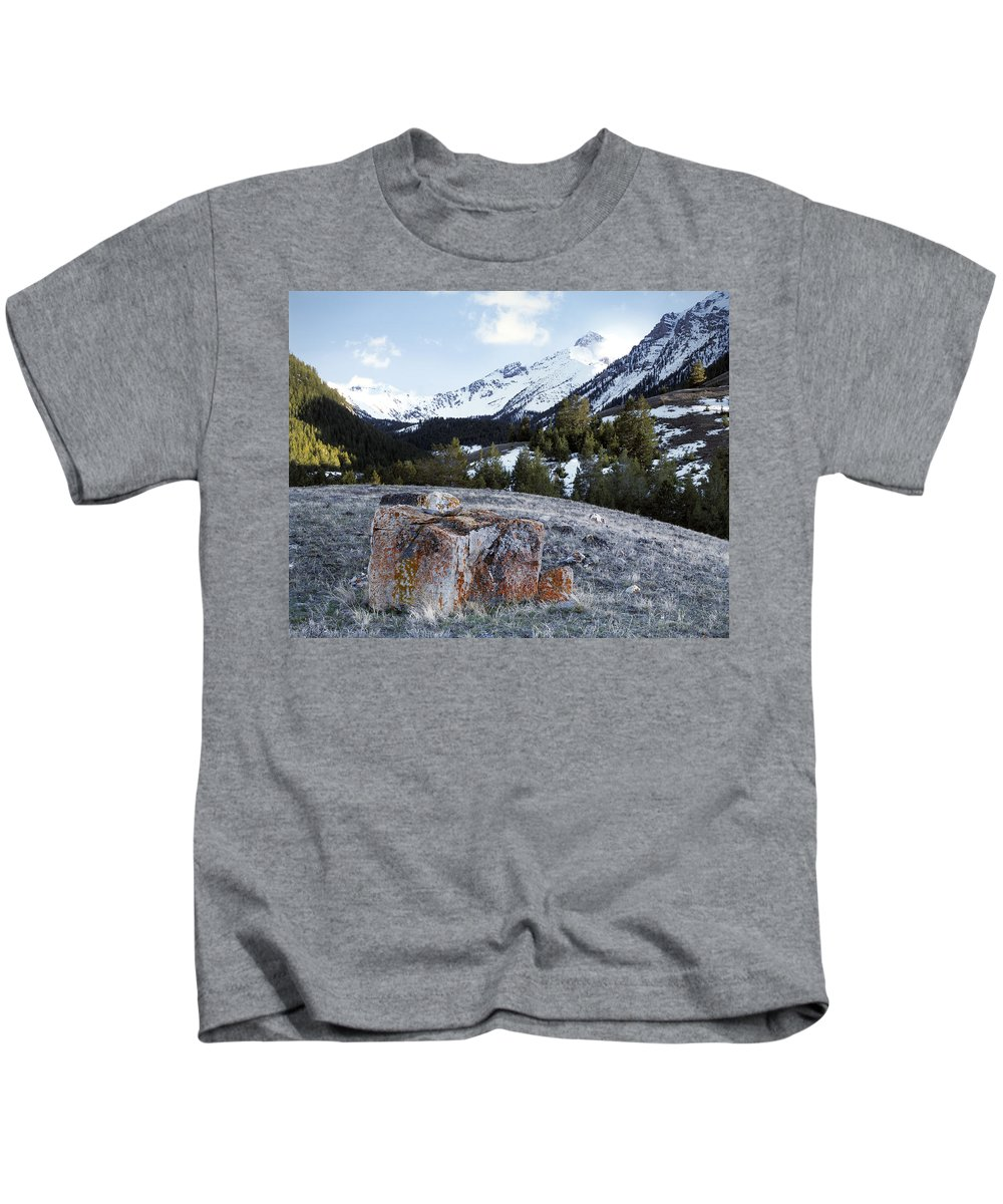 Bell Mountain Kids T-Shirt featuring the photograph Bell Mountain by Leland D Howard