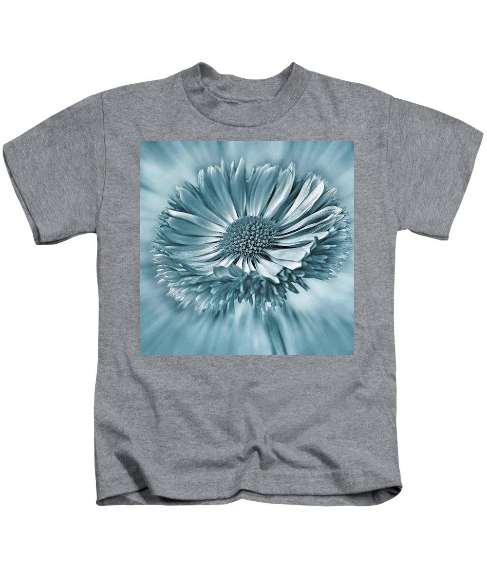 Beautiful Kids T-Shirt featuring the photograph Bellis In Cyan  #flower #flowers by John Edwards