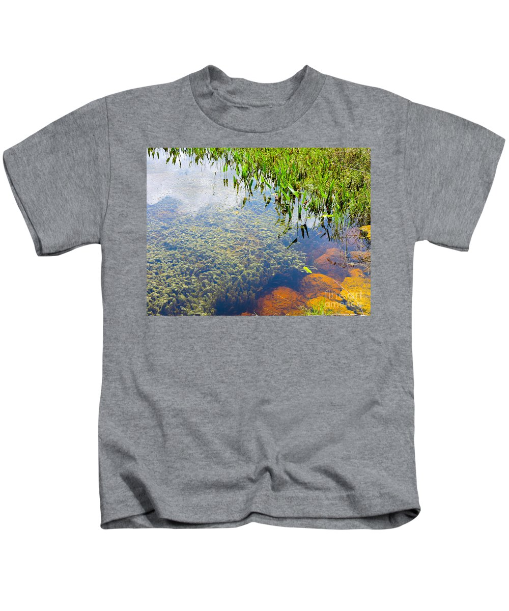 Pond Kids T-Shirt featuring the photograph Below The Surface by Marilee Noland