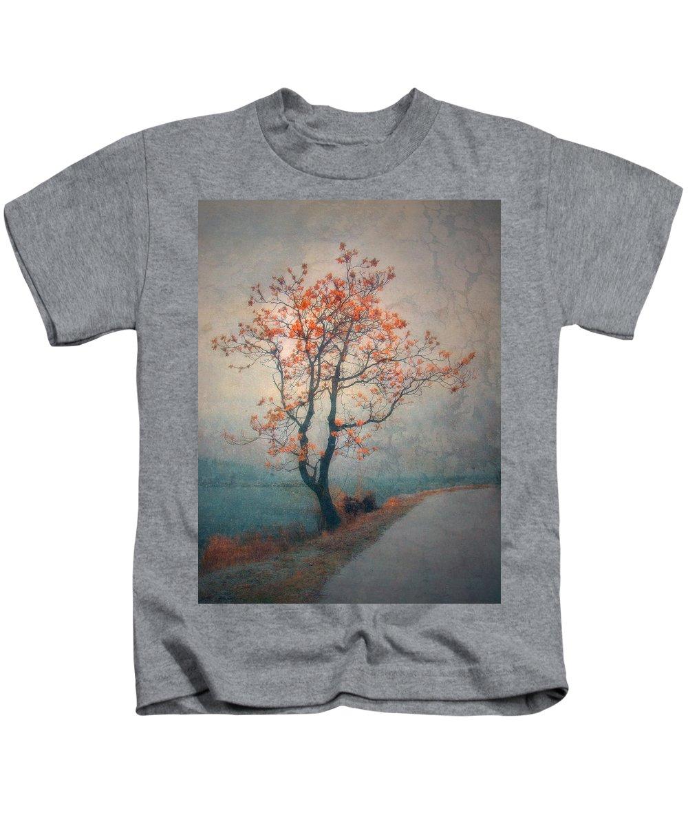 Seasons Kids T-Shirt featuring the photograph Between Seasons by Tara Turner