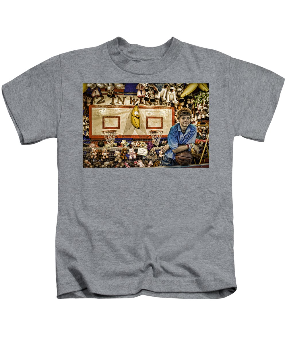 Carnival Kids T-Shirt featuring the photograph Beware The Smiling Banana by Bob Orsillo