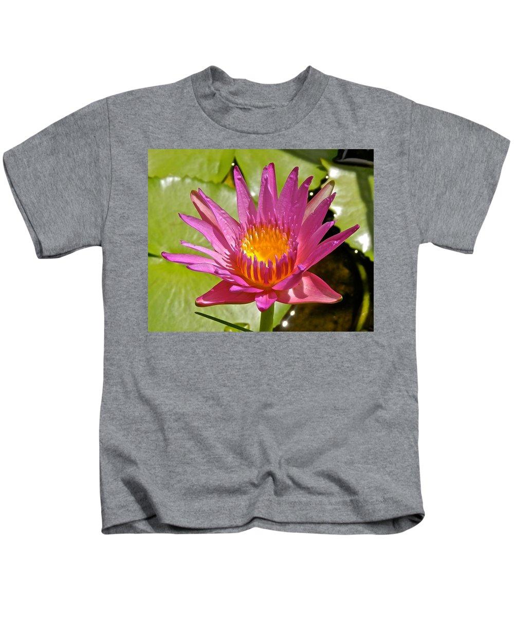 Lotus Kids T-Shirt featuring the photograph Beyond Beautiful Water Lily 3 by Joe Wyman