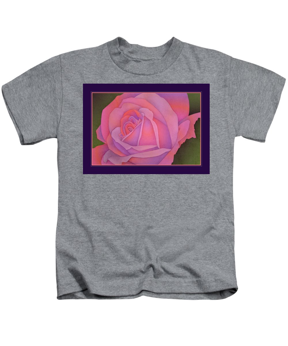 Rose Kids T-Shirt featuring the drawing Beyond The Wall by Jane Alexander