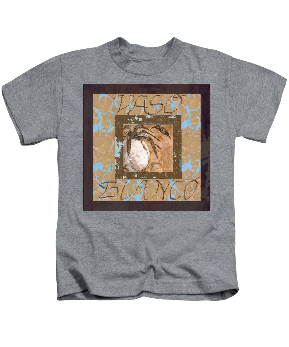 Decor Kids T-Shirt featuring the painting Bianco Vinaccia by Guido Borelli