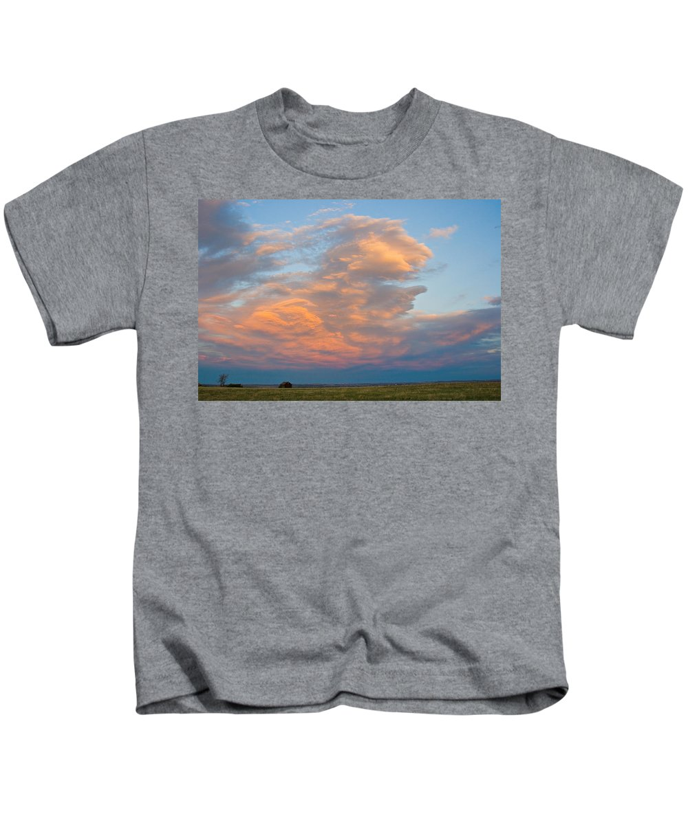 Sunset Kids T-Shirt featuring the photograph Big Country Sunset Sky by James BO Insogna