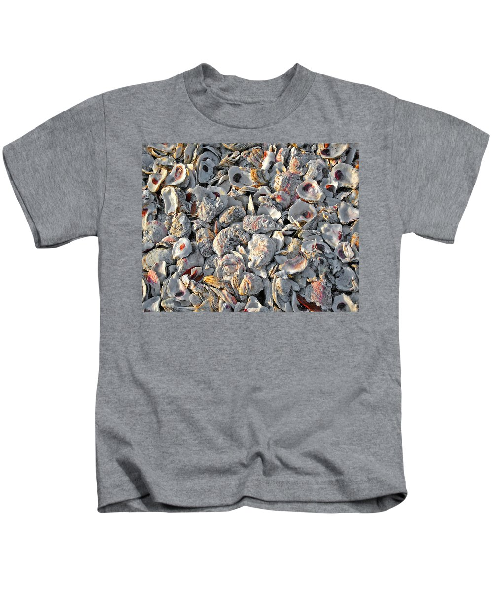 Shrimp Boat Kids T-Shirt featuring the painting Billys Oyster Shells by Michael Thomas