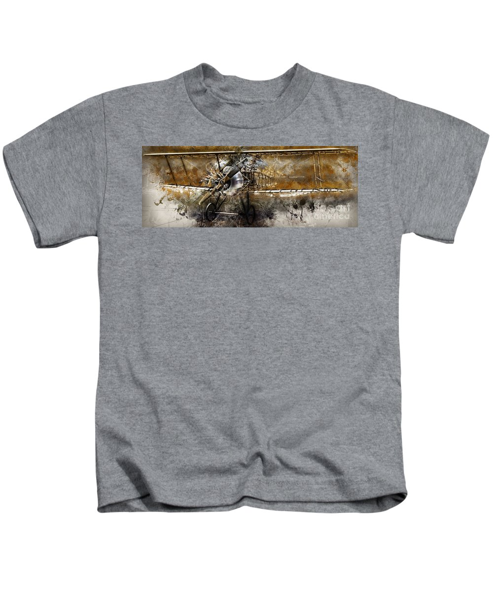 National Museum Of The Us Air Force Kids T-Shirt featuring the photograph Biplane by James Taylor