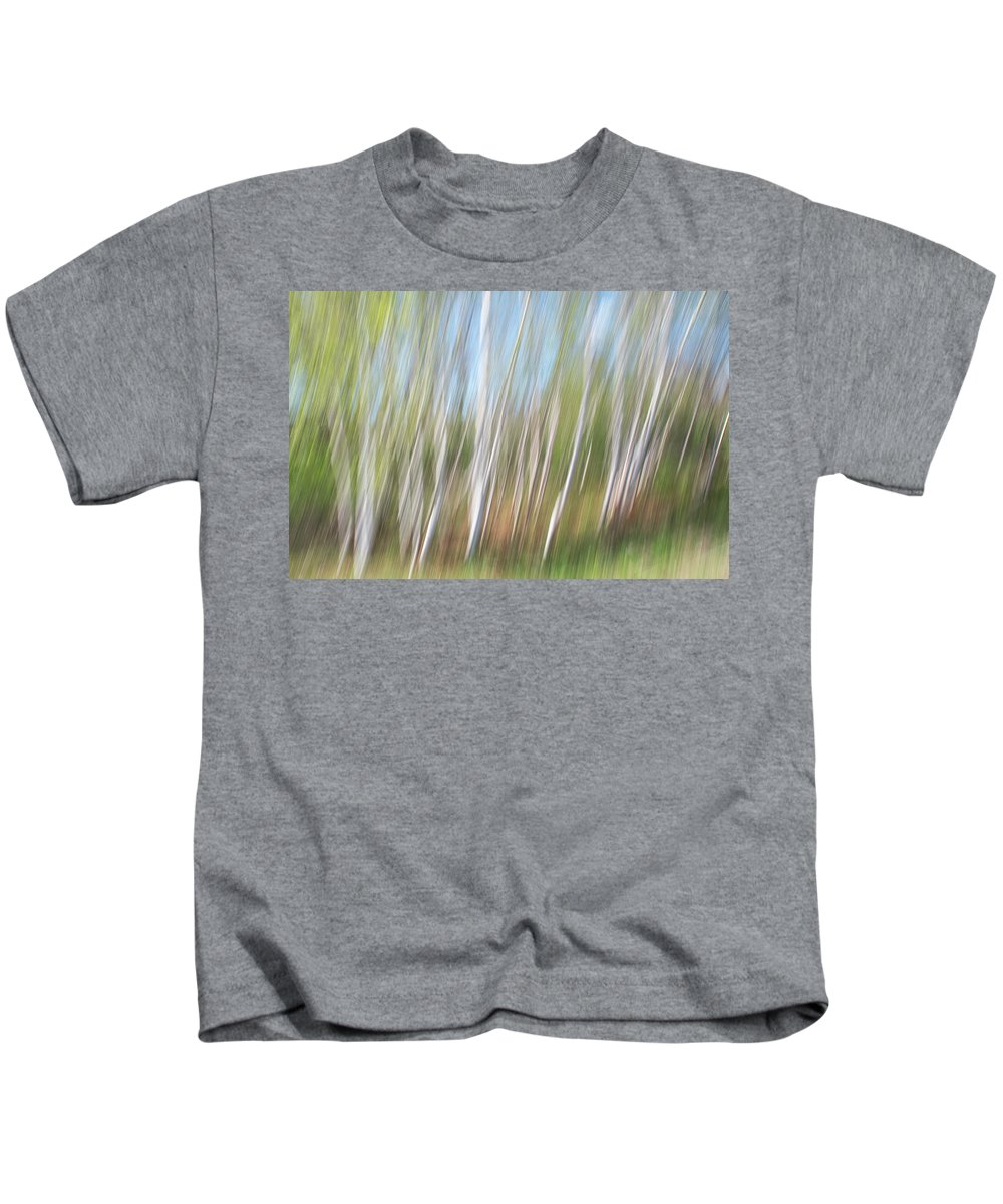 Birch Kids T-Shirt featuring the photograph Birch Dream #3 by Alan Brown