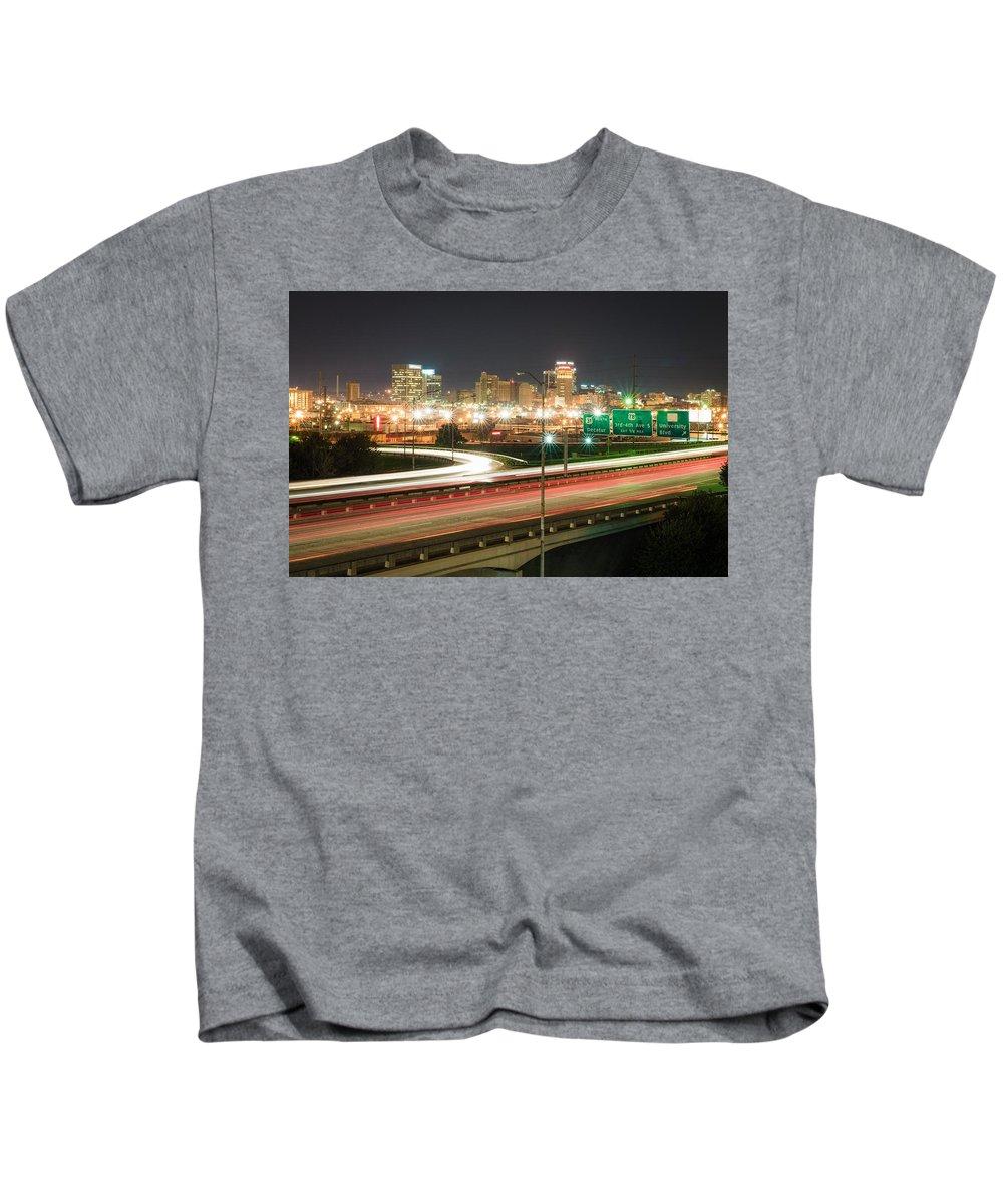 Alabama Kids T-Shirt featuring the photograph Birmingham, Alabama by Clay Carroll