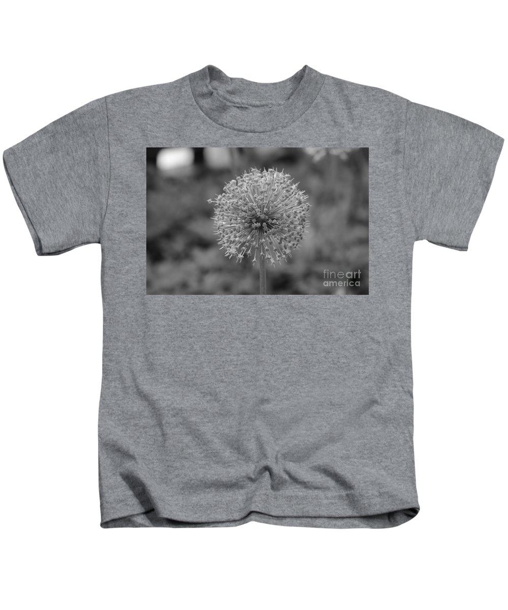 Balck And White Kids T-Shirt featuring the photograph Black And White Flowers by Des Brownlie