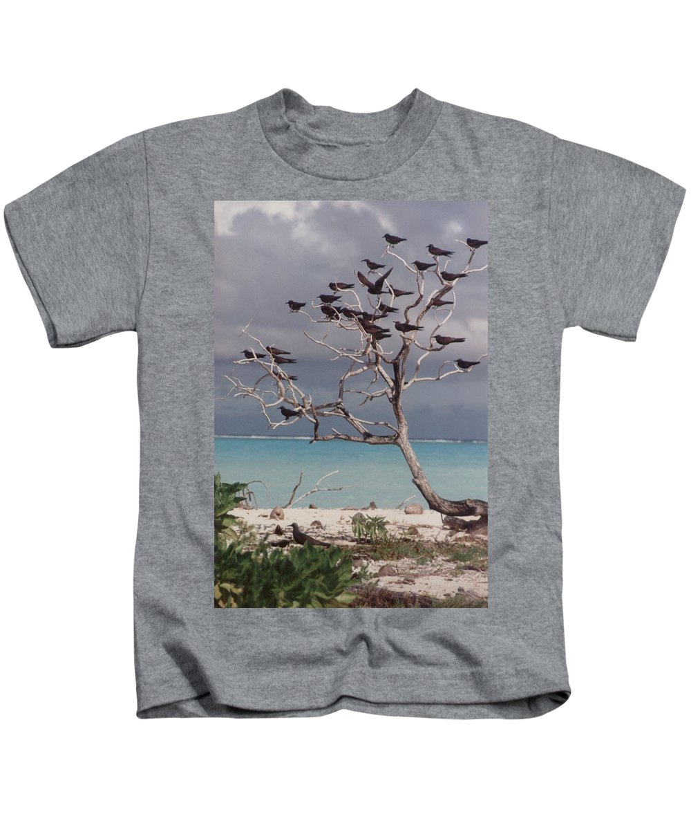 Charity Kids T-Shirt featuring the photograph Black Birds by Mary-Lee Sanders
