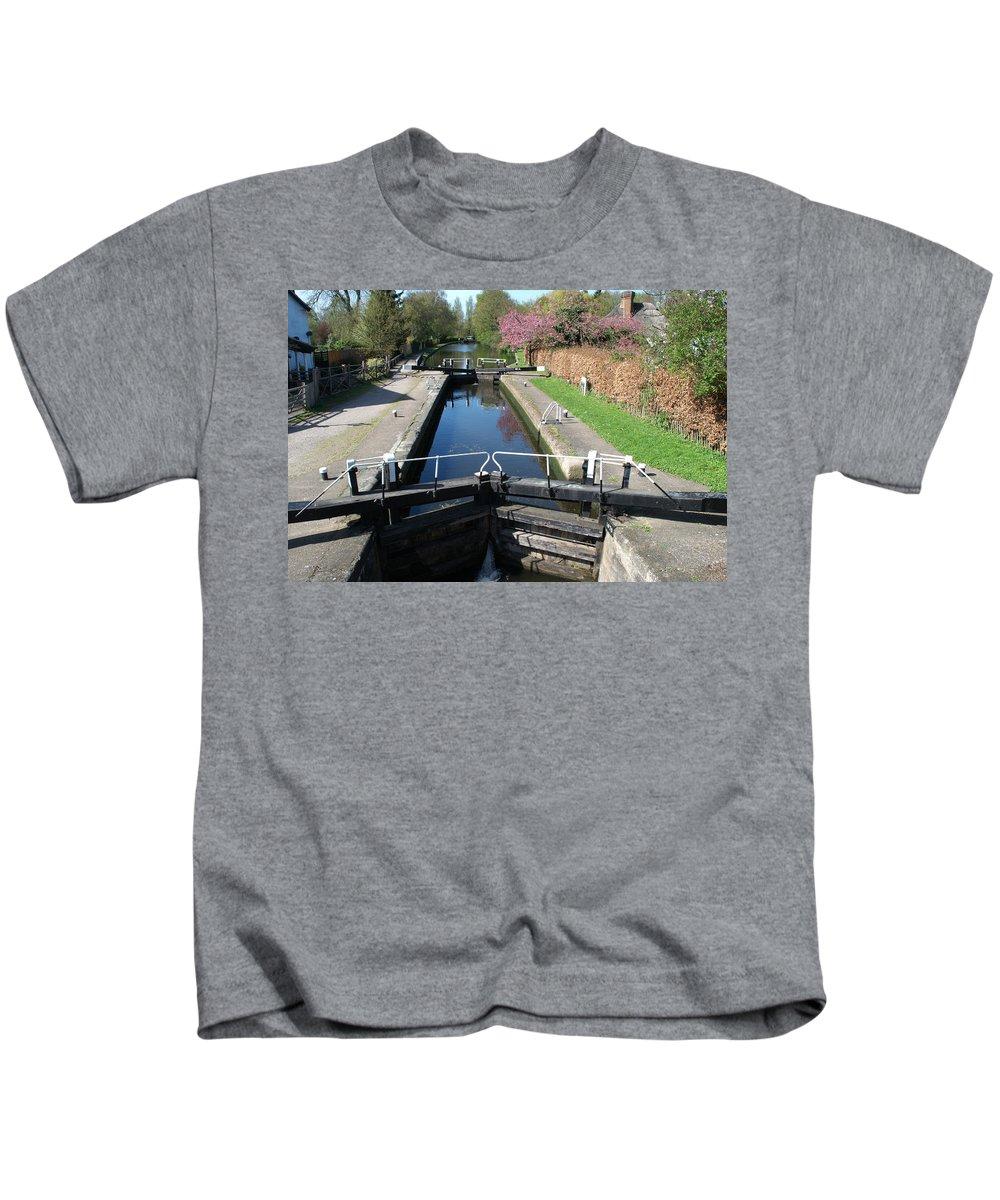 Black Jack Kids T-Shirt featuring the photograph Black Jacks Lock by Chris Day