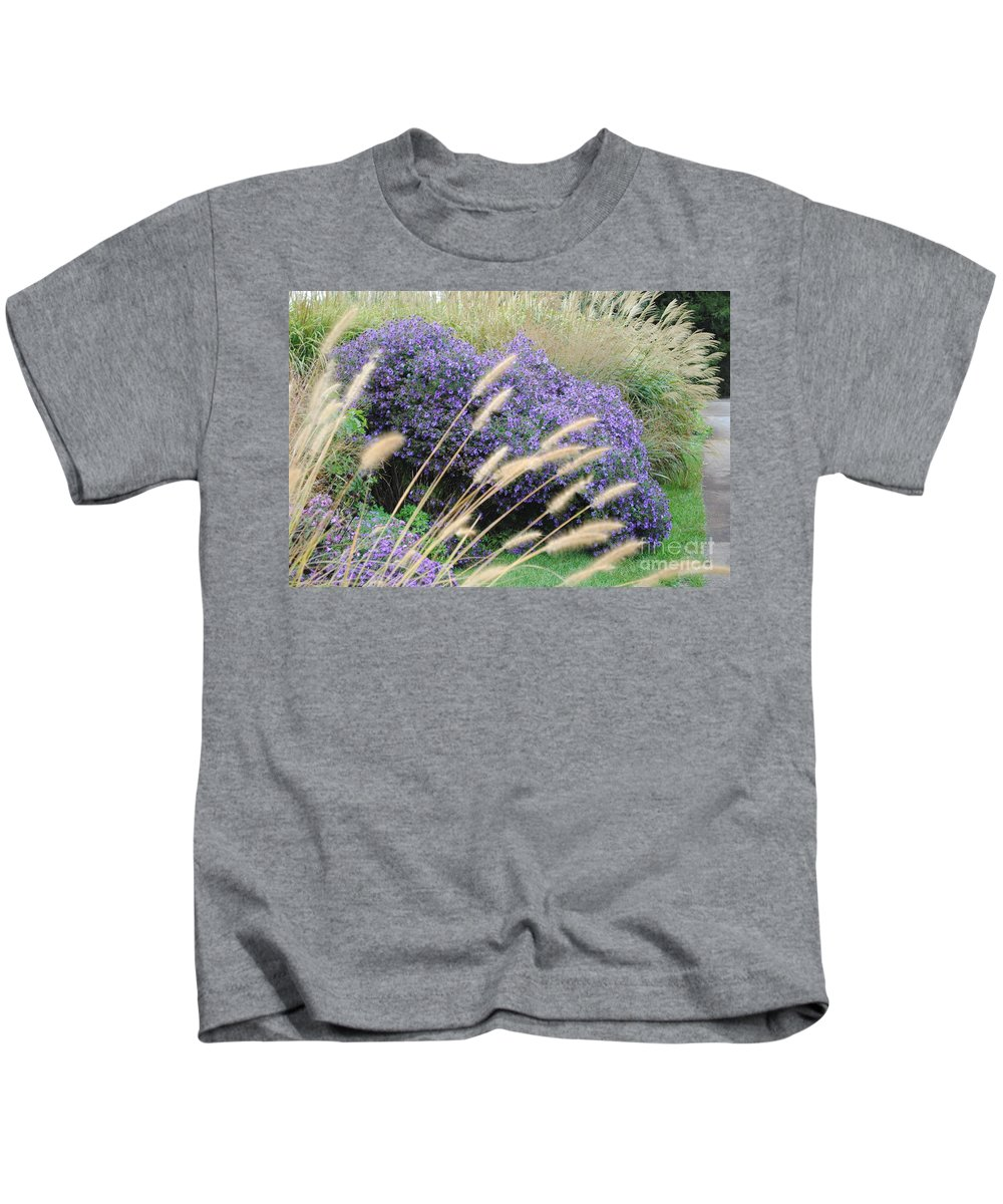Purple Kids T-Shirt featuring the photograph Blaisdell Floral by Jost Houk