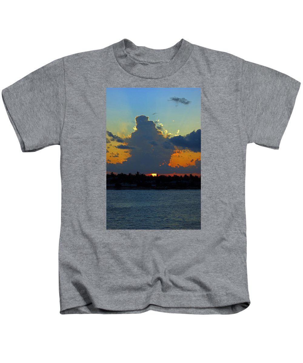 Sunset Kids T-Shirt featuring the photograph Blaze Of Glory by Maria Keady