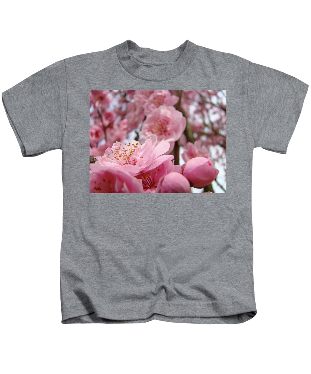 Blossom Kids T-Shirt featuring the photograph Blossoms Art Print Pink Spring Blossom Baslee Troutman by Baslee Troutman