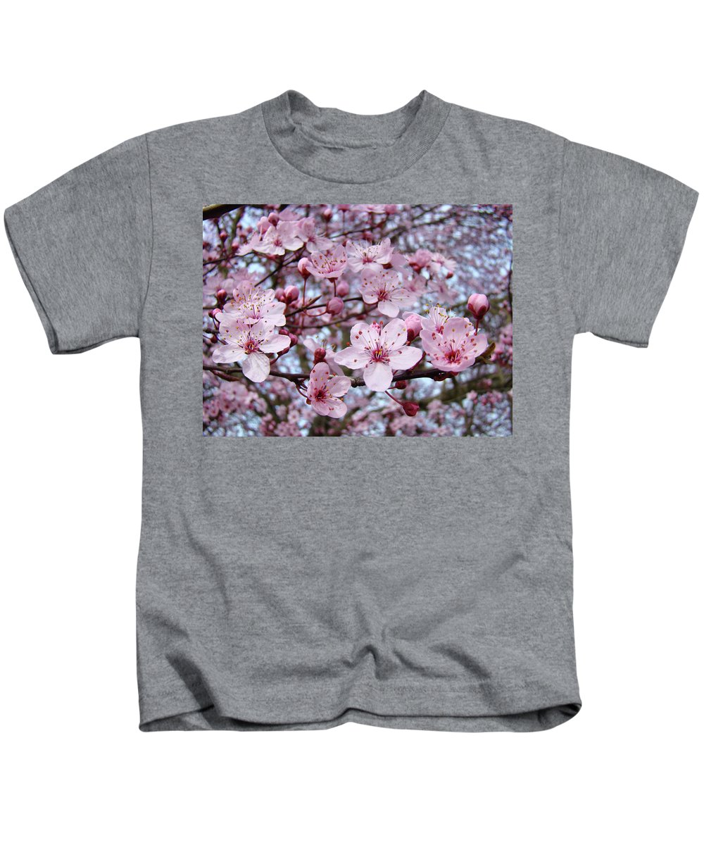 Blossom Kids T-Shirt featuring the photograph Blossoms Art Prints Nature Pink Tree Blossoms Baslee Troutman by Baslee Troutman