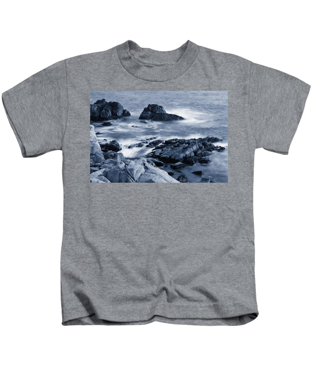 Carmel Kids T-Shirt featuring the photograph Blue Carmel by Renee Hong
