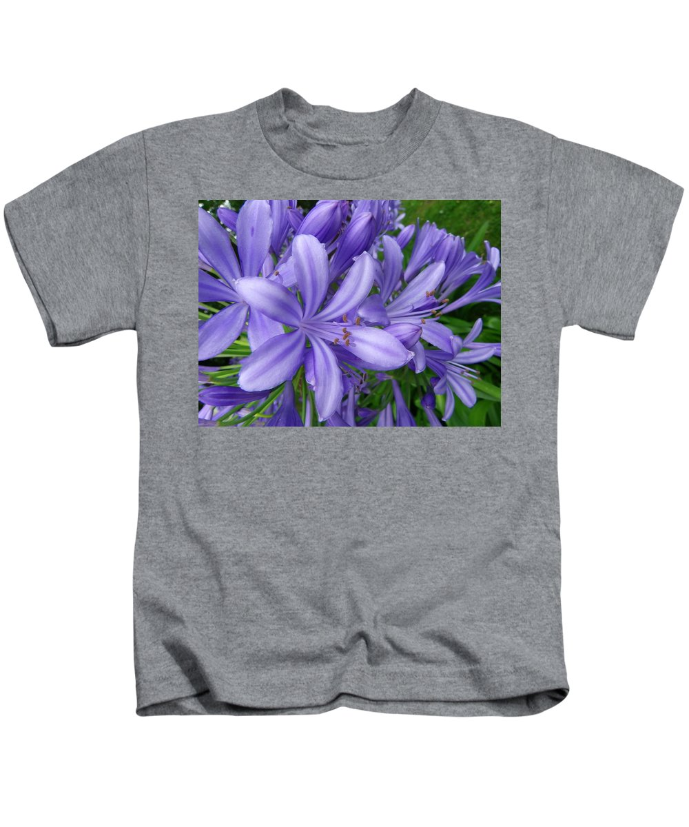 Flower Kids T-Shirt featuring the photograph Blue Delight by Charleen Treasures