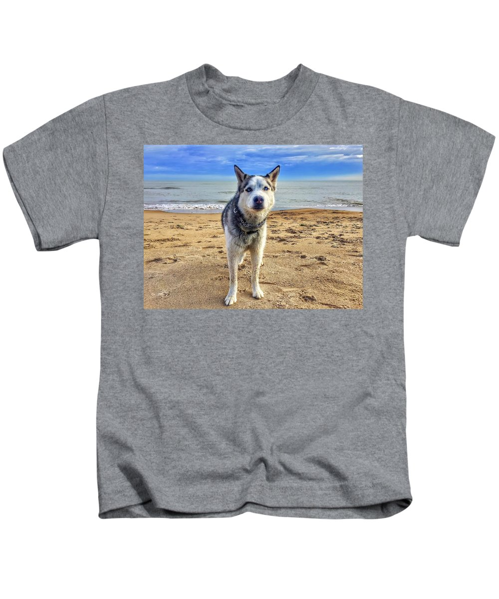 Blue Kids T-Shirt featuring the photograph Blue Eyes by Louis Perlia