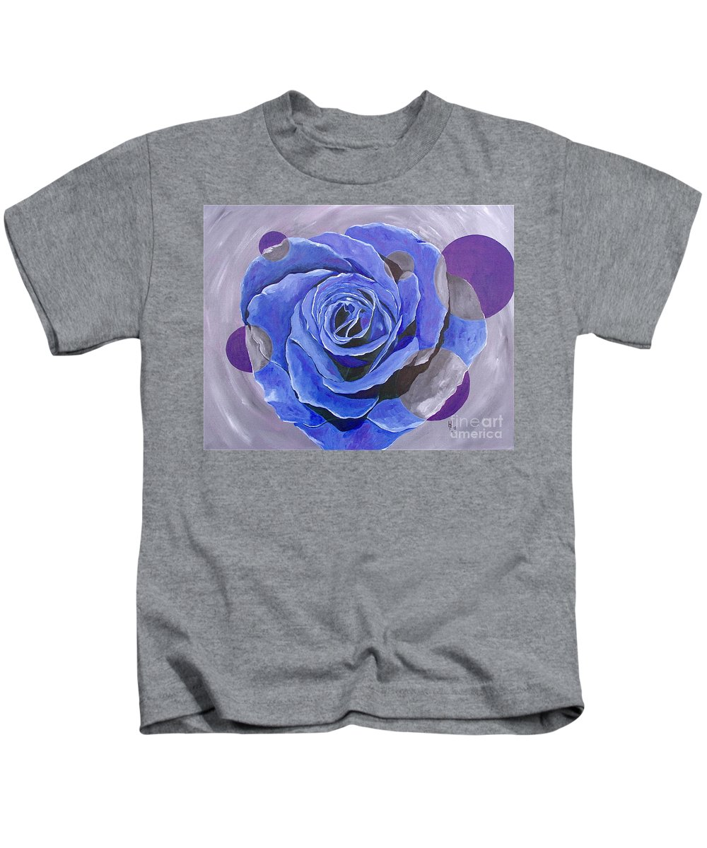 Acrylic Kids T-Shirt featuring the painting Blue Ice by Herschel Fall