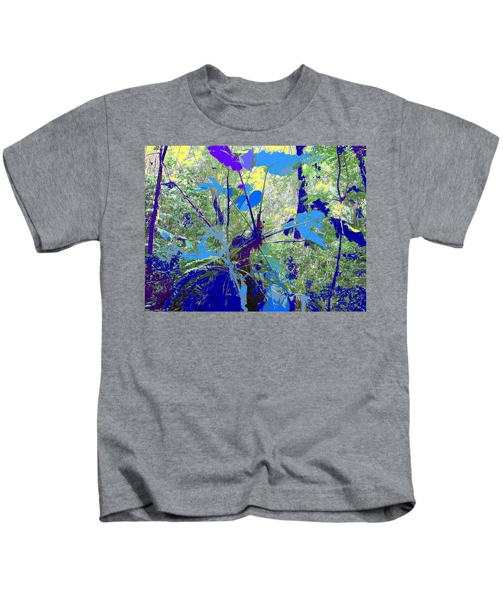 Kids T-Shirt featuring the photograph Blue Jungle by Ian MacDonald