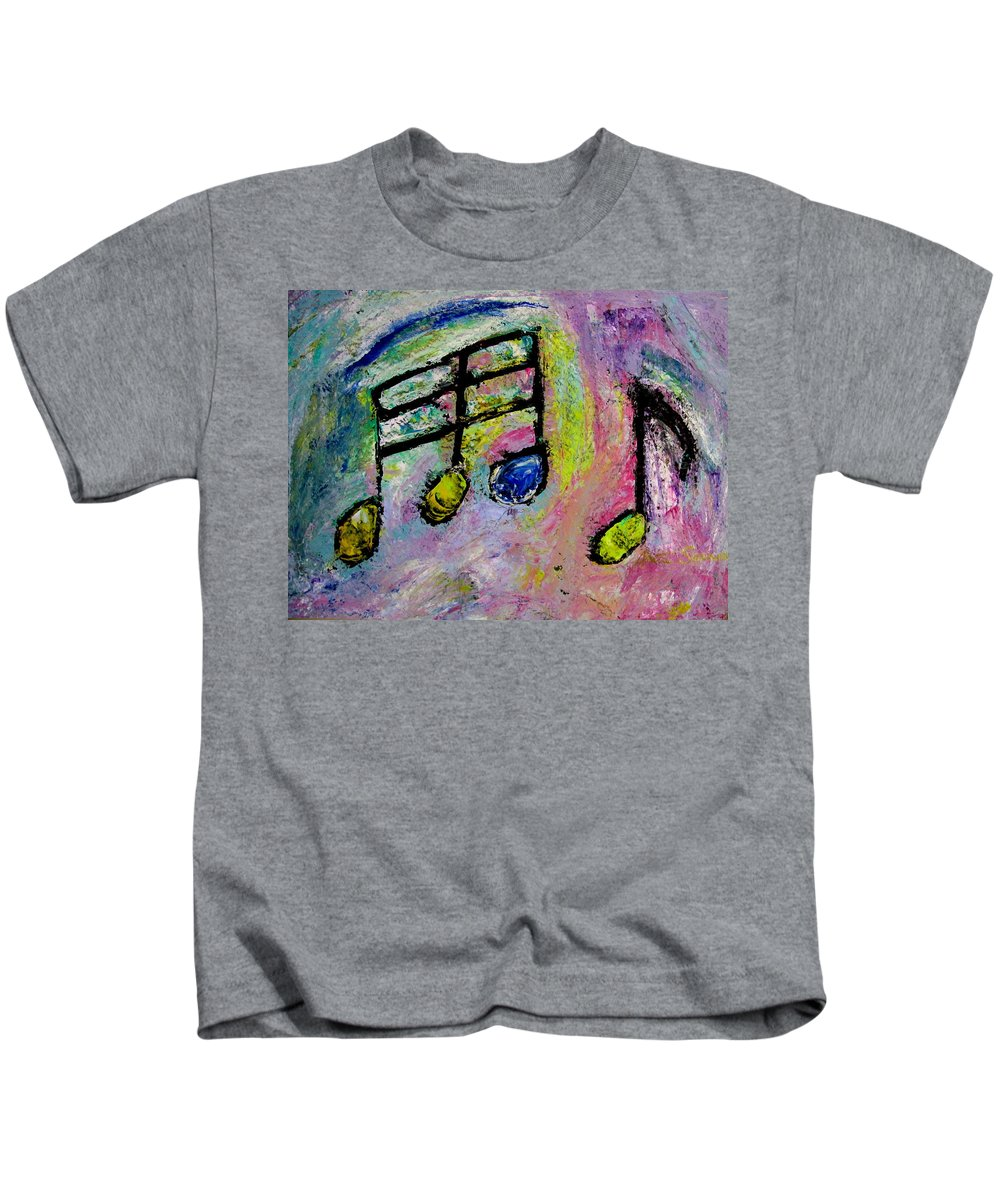 Impressionist Kids T-Shirt featuring the painting Blue Note by Anita Burgermeister