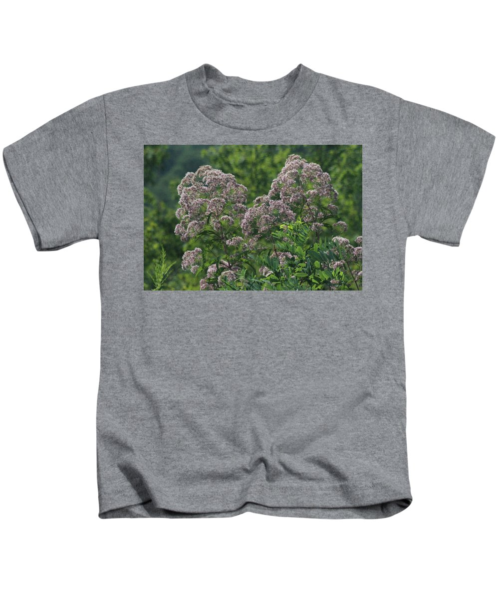 Flowers Kids T-Shirt featuring the photograph Blue Ridge Flowers by Tina Foote