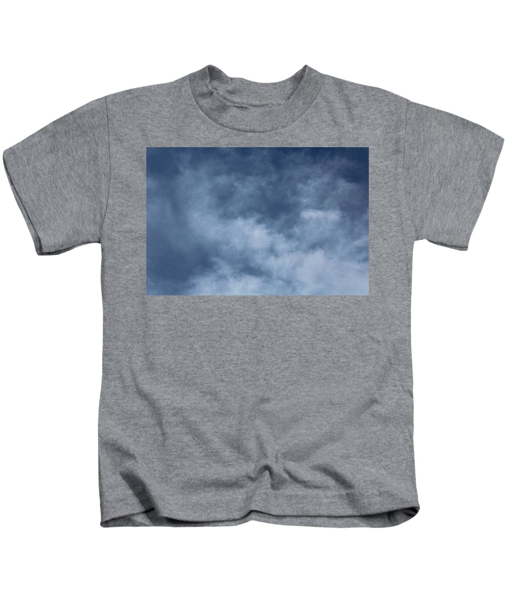 Sky Kids T-Shirt featuring the photograph Blue Sky And Clouds by Hunter Kotlinski