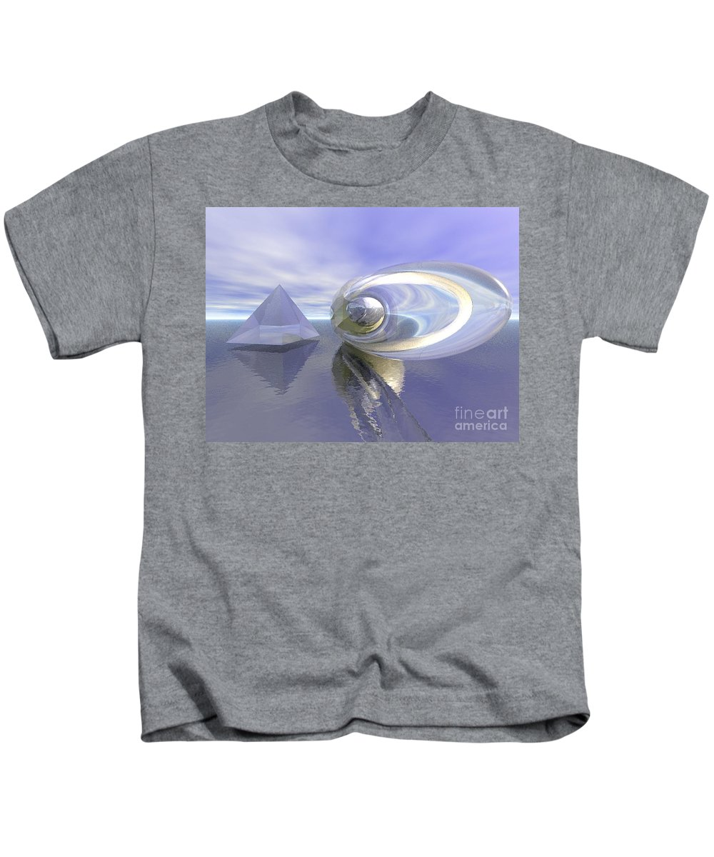 Surreal Kids T-Shirt featuring the digital art Blue Surreal by Oscar Basurto Carbonell