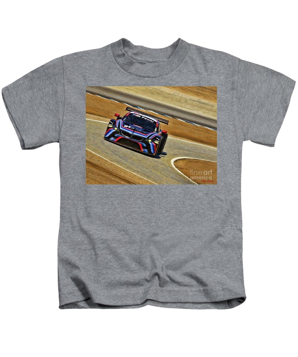 Bmw Z4 Gte Kids T-Shirt featuring the photograph Bmw Z4 Gte Gt Le Mans Tudor by Blake Richards