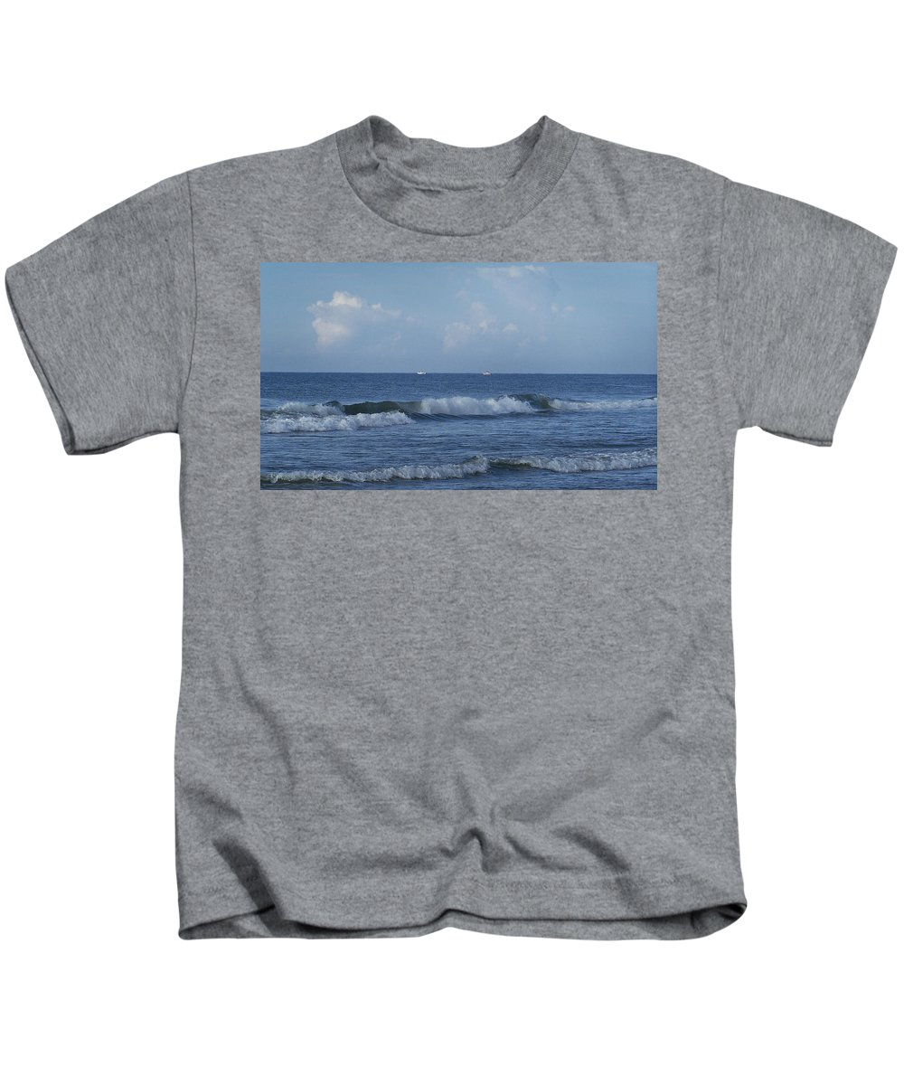Ocean Kids T-Shirt featuring the photograph Boats On The Horizon by Teresa Mucha