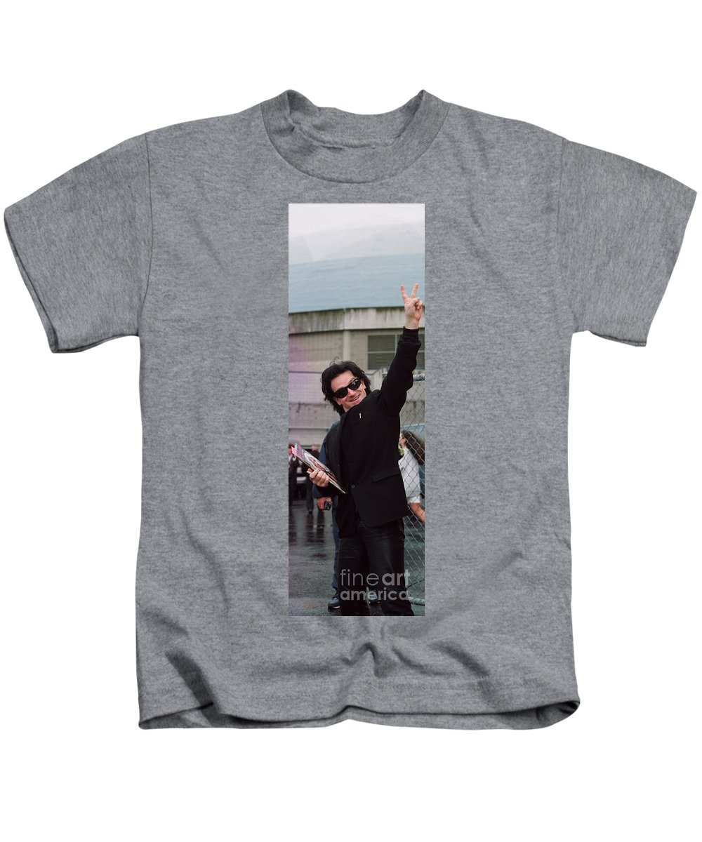 Peace Kids T-Shirt featuring the photograph Bono by David J Warrington