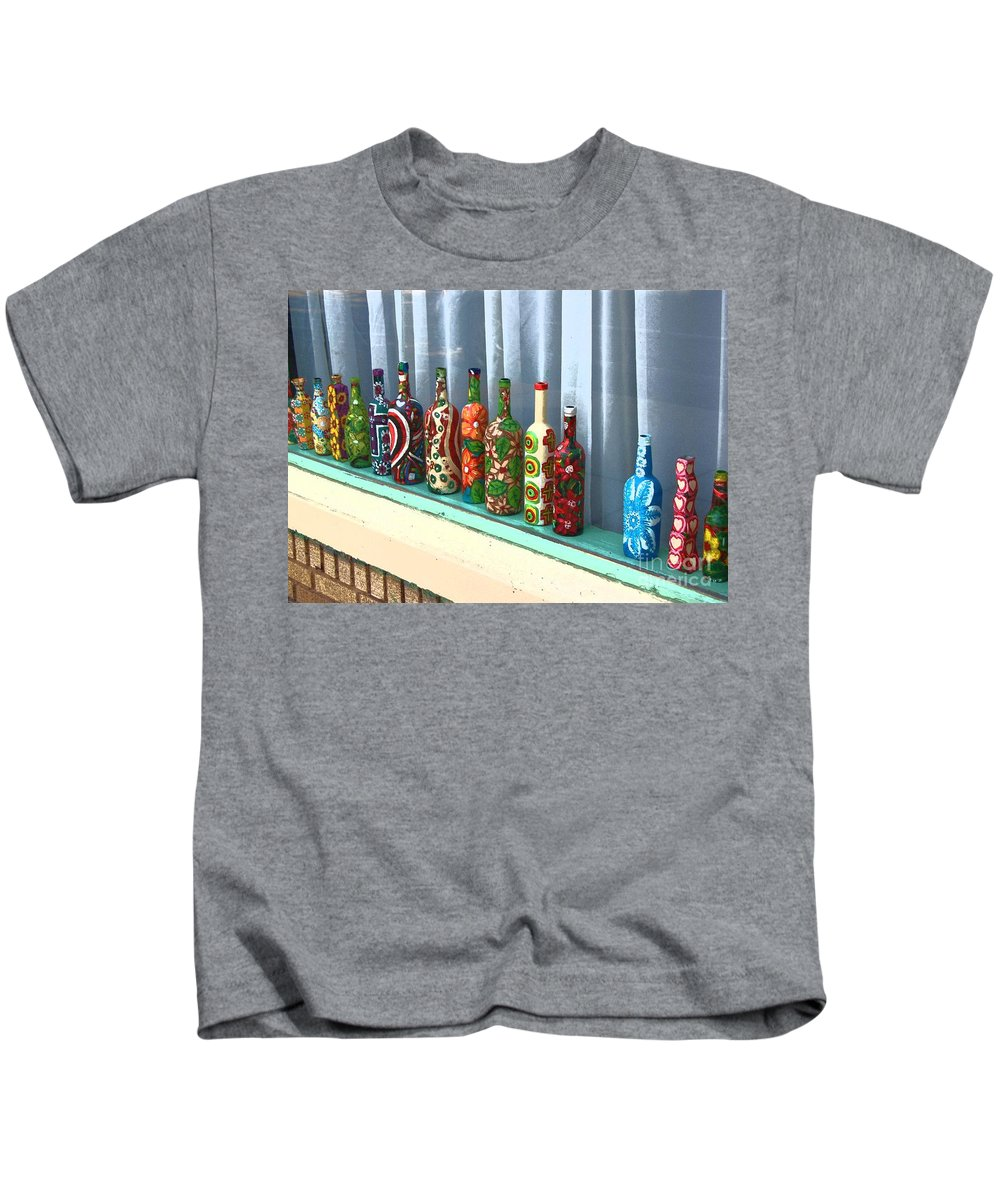 Bottles Kids T-Shirt featuring the photograph Bottled Up by Debbi Granruth