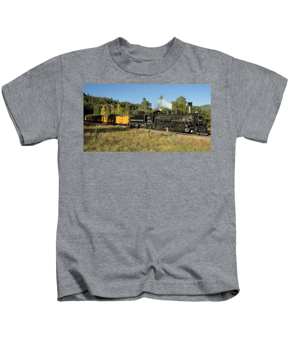 Durango Kids T-Shirt featuring the photograph Bound For Durango by Jerry McElroy