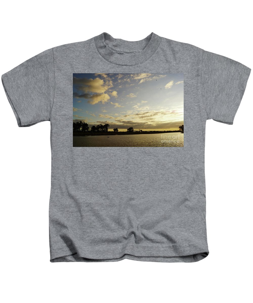 Dusk Kids T-Shirt featuring the photograph Boyanup Dusk by Cassandra Buckley