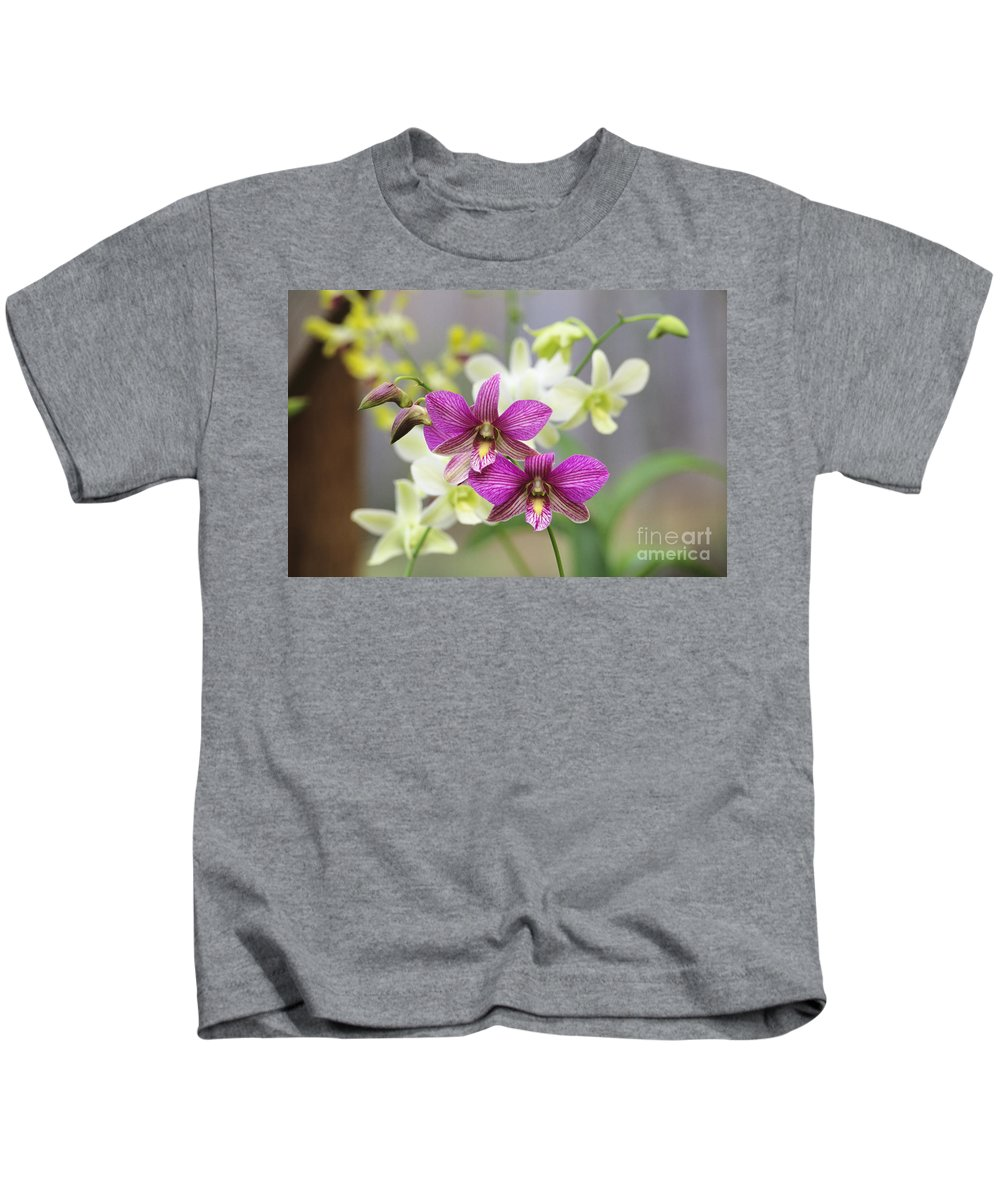 Afternoon Kids T-Shirt featuring the photograph Branch Of Pink by Allan Seiden - Printscapes
