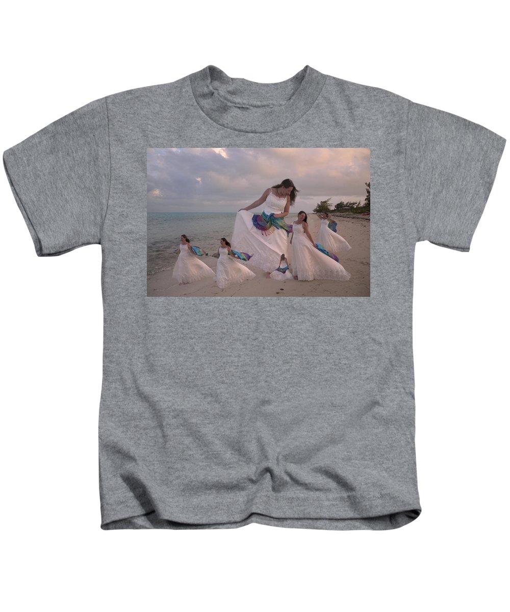 Wedding Kids T-Shirt featuring the digital art Brave New World Dimensions Custom Sample by Betsy Knapp