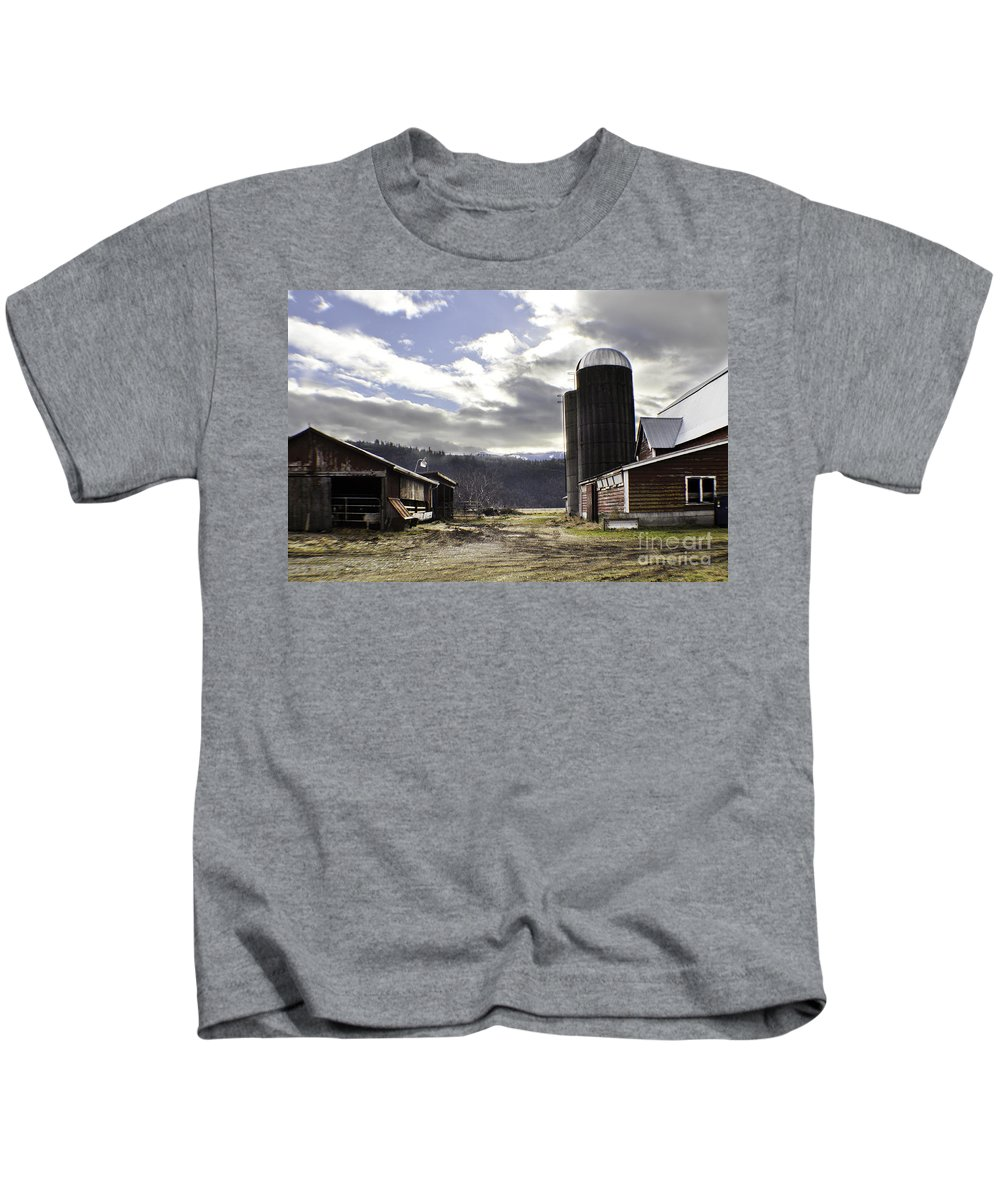 Art Kids T-Shirt featuring the photograph Break In The Clouds by Clayton Bruster