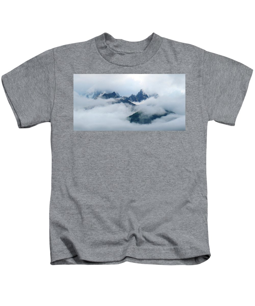 Clouds Kids T-Shirt featuring the photograph Breaking Through by Jeff Kudla