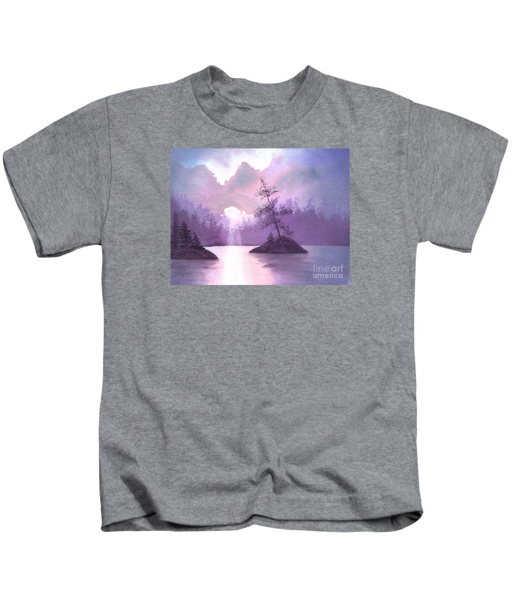 Landscape Kids T-Shirt featuring the painting Breakthrough by Lynn Quinn