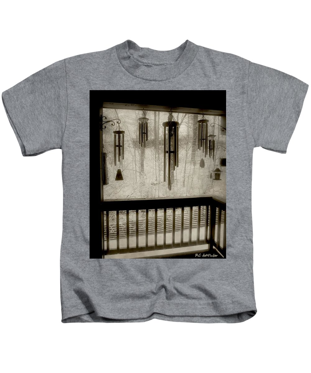Balcony Kids T-Shirt featuring the photograph Breathe Deep The Gathering Gloom by RC DeWinter
