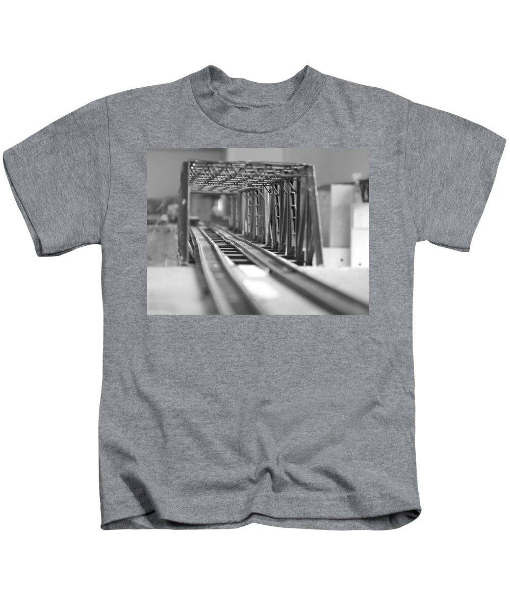 Models Kids T-Shirt featuring the photograph Bridge To Jerry Town by Margaret Fortunato