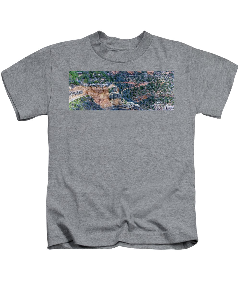 Arizona Kids T-Shirt featuring the photograph Bright Angel Trail @ Grand Canyon by Daniel Shumny