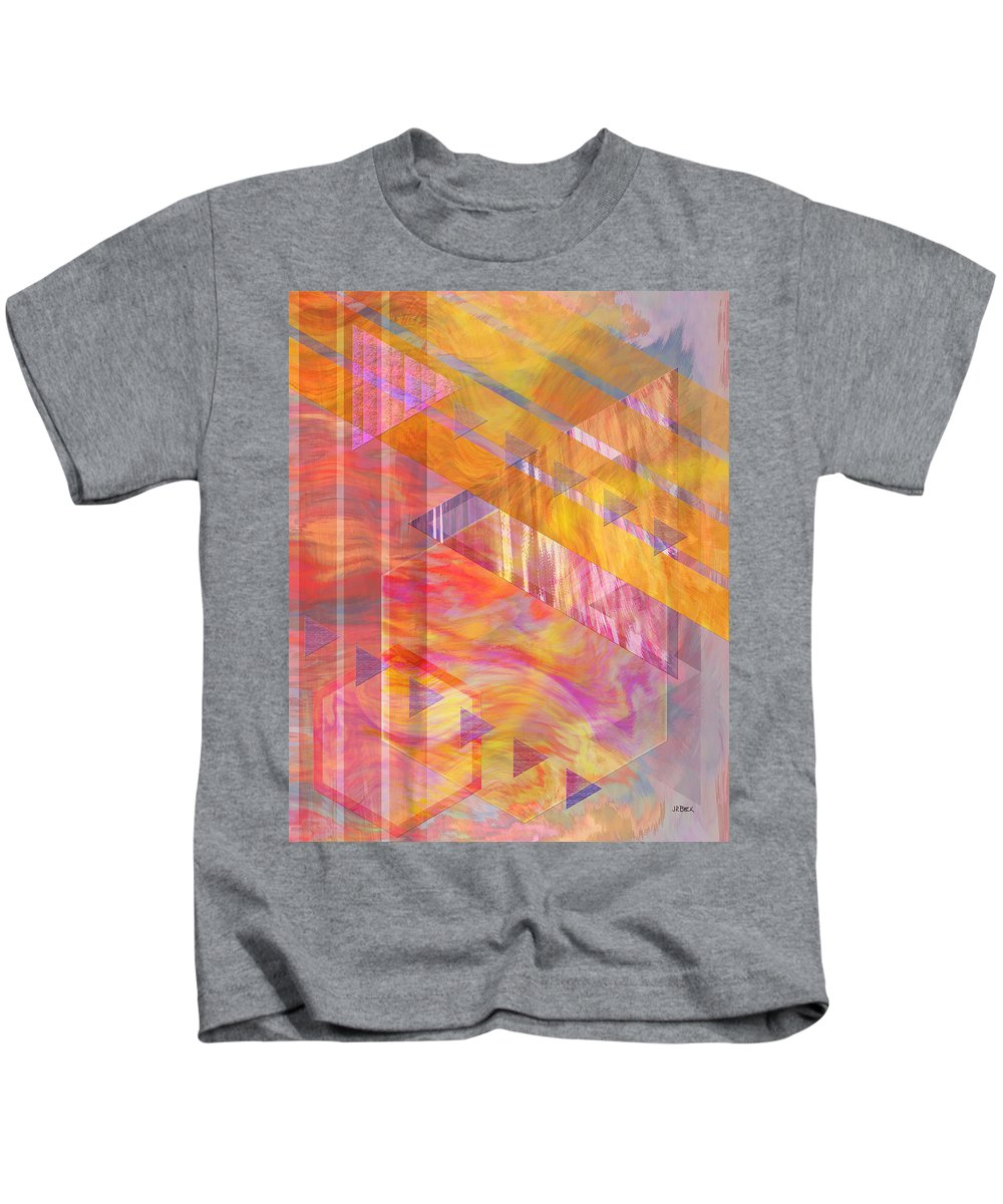 Affordable Art Kids T-Shirt featuring the digital art Bright Dawn by John Beck