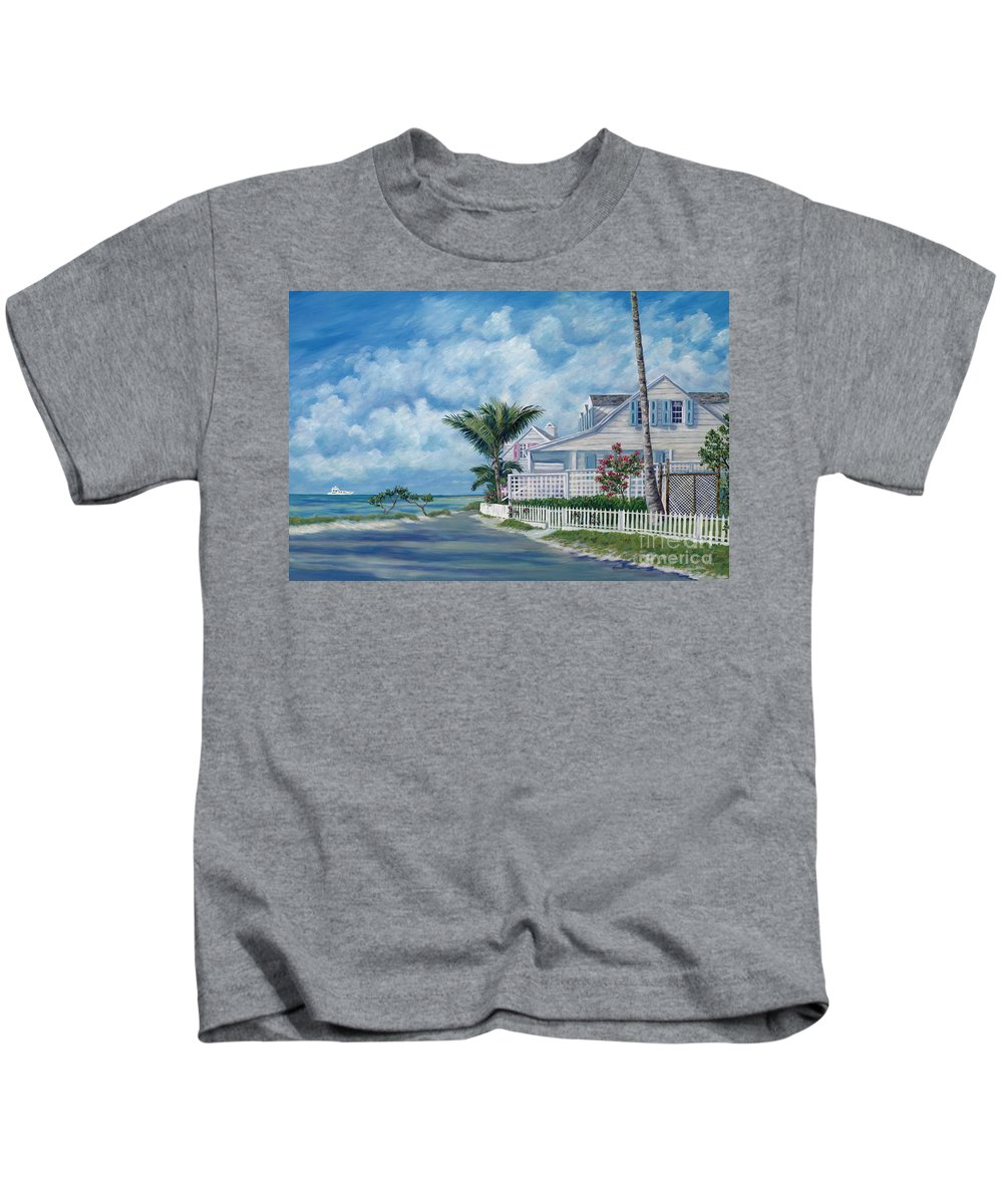 Harbor Island Kids T-Shirt featuring the painting Briland Breeze by Danielle Perry