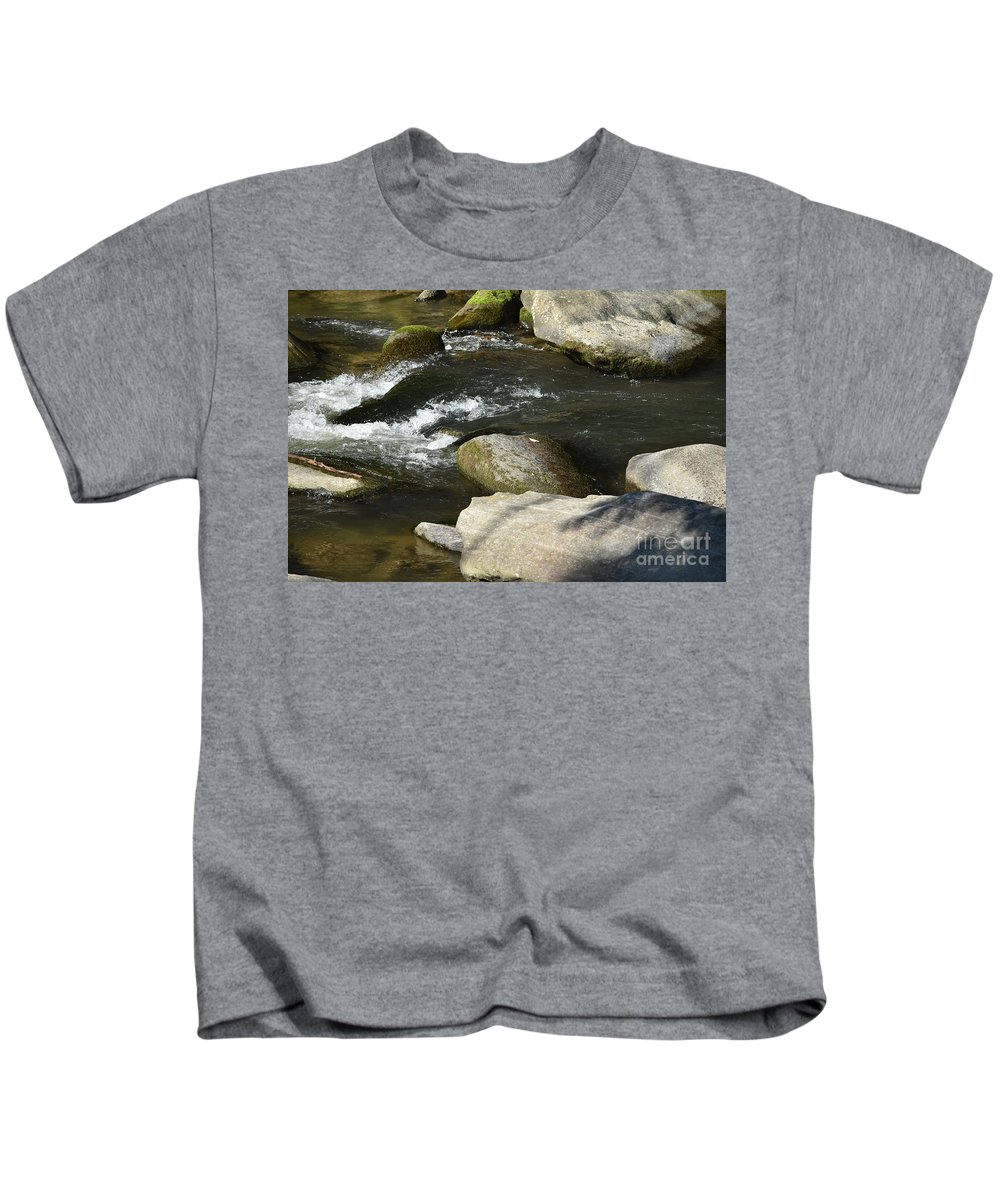 Asheville Kids T-Shirt featuring the photograph Broad River by Lisa Kleiner